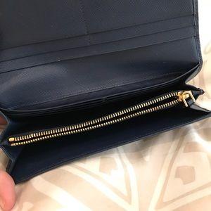 86d5a7949c04 Prada Bags - Prada saffiano bi-color continental flap wallet