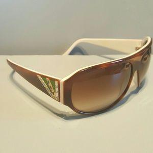 Judith Leiber Accessories - Judith Leiber tortoiseshell crystal sunglasses