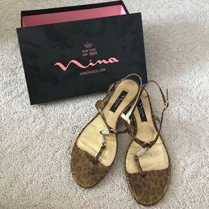 Nina Shoes - Nina leopard print flats