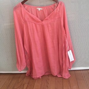 Truly Me Tops - Peach colors shirt for summer