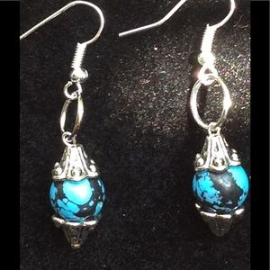 PeaceFrog Jewelry - Blue Turquoise Earrings