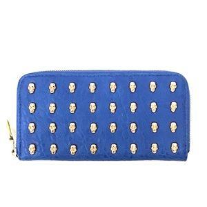 Urban Expressions Handbags - Urban Expressions Vegan Leather Zip Skull Wallet