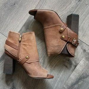 Fergie Shoes - Fergie leather open toe booties