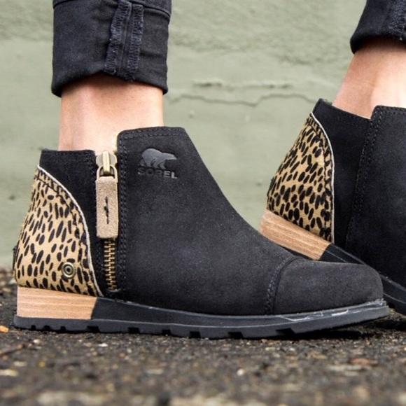 Sorel Major Low Ankle Boot Leopard Bootie 3b6a242f5b2