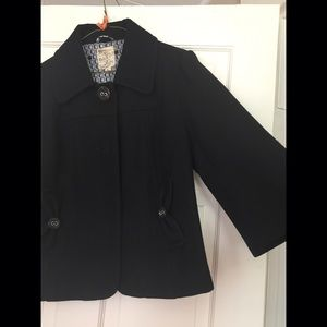 Tulle Jackets & Blazers - Women's Cropped Peacoat