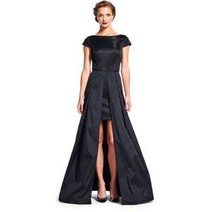 Adrianna Papell Dresses & Skirts - Adrianna Papell Metallic Knit & Taffeta Black Gown