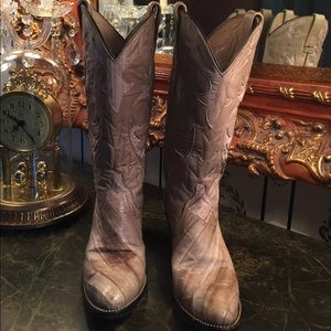 Dan Post Shoes - Dan Post Exotic Premium EEL/ LEATHER Boots size 7
