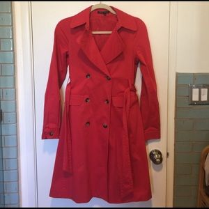 Lovely red Theory trench coat