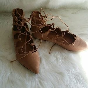 Aldo caposel  lace up flats  size 9