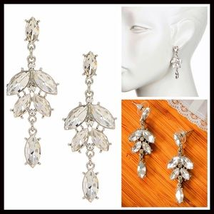 Jewelry - Glam Statement Pave Crystal Dangle Earrings