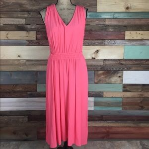 Kate Spade Watermelon Crepe Tie Back Dress Large