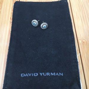 David Yurman Jewelry - David Yurman - Blue Topaz Cookie Earrings