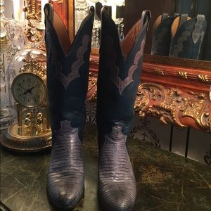 Justin Boots Shoes - Justin Leather Western Cowgirl Boots Size 6 1/2 B