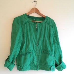 Michael Stars Jackets & Blazers - Micheal Stars Lien Green Spring Jacket