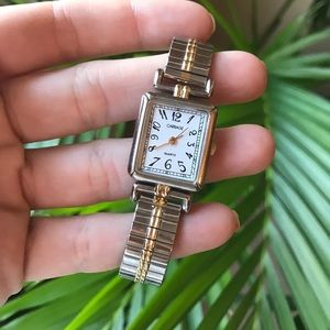 Timex Carriage silver and gold watch