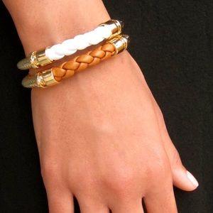 "Jessica Elliot Jewelry - ✨ GENUINE LEATHER ""TRENZA"" BRACELET ✨"