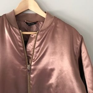 NWT Topshop Rose Gold Jacket Size 8 