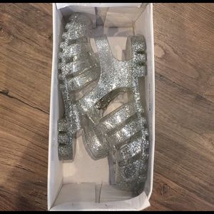 Link Other - Clear glitter jellies! Jelly Sandals or shoes