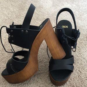 Asos platform lace-up sandals