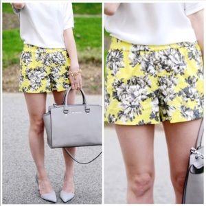 J. Crew Factory Pants - JCREW FACTORY flower print pull on shorts.