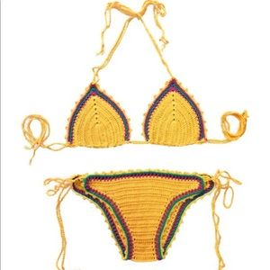 KIINI Other - Yellow crochet bikini