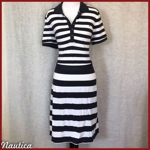 Nautica Dresses & Skirts - Nautica Collared Dress w/ Tie Belt