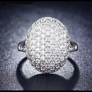 Curvy Couture Jewelry - Pave a setting of Diamonds in Platinum Ring