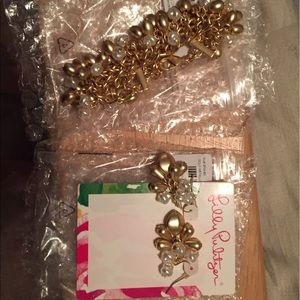 NIP Lilly Pulitzer Earrings and Bracelet Set
