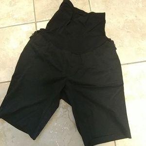 Maternity black shorts