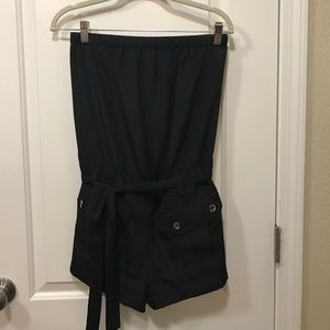 Express strapless romper with sash
