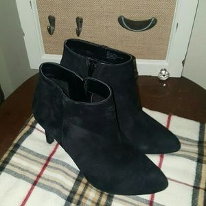 Alex Marie Shoes - Black suede booties by Alex Marie