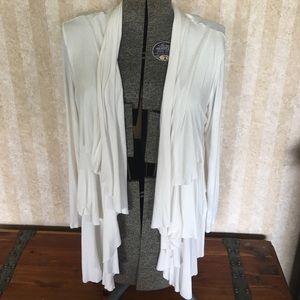 AB Studio Tops - Off white cardigan
