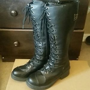 ❌SOLD❌RIVET HEAD CROSS STUDDED MILITARY BOOTS