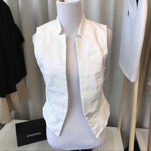 White Cropped Vest