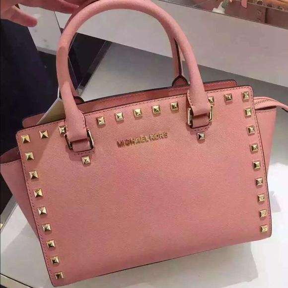 2ebea8a7a7ba03 Michael Kors Bags   Brand New Mk Selma Medium Satchel Pale Pink ...