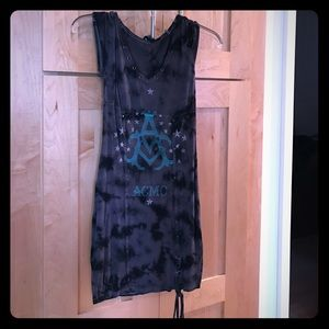 Affliction Dresses & Skirts - Affliction dress. Gray and black tie-dye