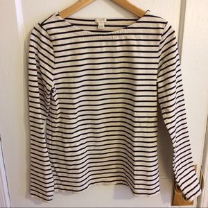 striped boatneck shirt (navy and cream)