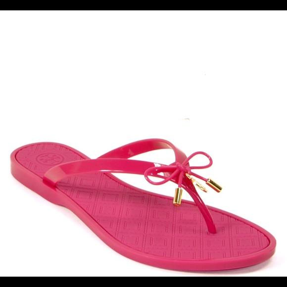 e6e2c1b3174e Tory Burch Jelly Bow Thong Sandals NWT! 💕
