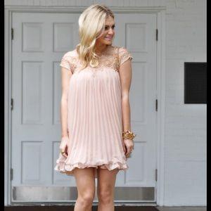 chicwish Dresses & Skirts - Chicwish beaded embellished babydoll dress