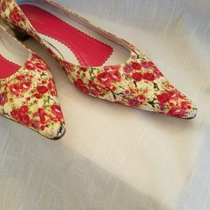 "Delman Shoes - 60% off Delman ""Buffy"" Cerise Floral flat"