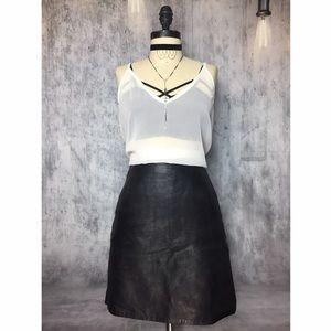 Vintage Dresses & Skirts - 💯 LEATHER CLOSET ESSENTIAL VINTAGE MINI SKIRT!!