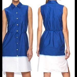 Reed Krakoff Dresses & Skirts - Poplin Dip-Dye Belted Shirt dress REED Size XL NWT