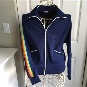 Sears Other - Vintage 70s Rainbow Men Navy Track Jacket - Size S