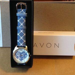 New Avon Denim petals watch