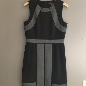Adrianna Papell Dresses & Skirts - Black & White Mesh Adrianna Papell Dress