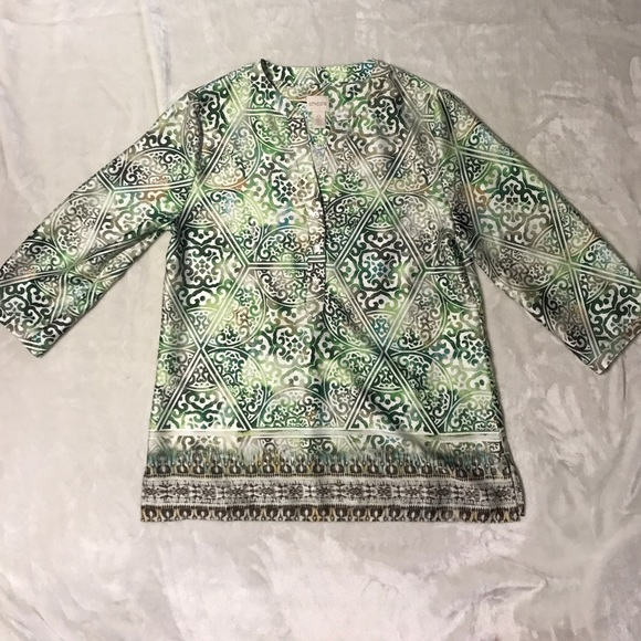 Chicos Green Blouse 119