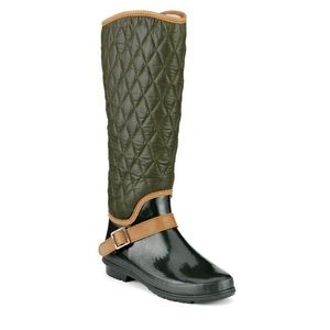 Sperry Top-Sider Shoes - Sperry Topsider Green Quilted Rainboots