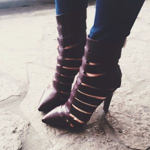 REBECCA MINKOFF LEATHER BOOTIES