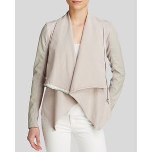 🆕 Blank NYC Mixed Media Leather Drape Jacket