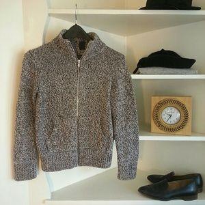 GAP Sweaters - GAP Fisherman's zip up grey collared sweater
